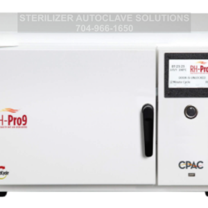 This is the front view of a CPAC RH-Pro9 heat sterilizer