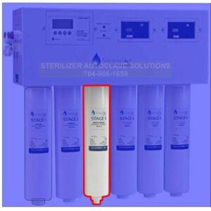 This is a Sterisil AC+ Series Stage 3 - Reverse Osmosis Membrane Cartridge AC+3.