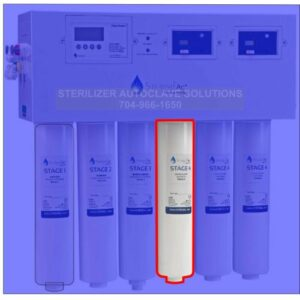 This is the Sterisil AC+ Series Stage 4 - Deionization Cartridge AC+4.