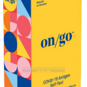 This is an Intrivo On/Go Covid-19 Test Kit in the box