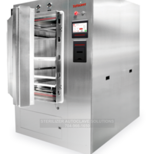 This is a Tuttnauer 69 Series Large Capacity Autoclave with the door open.