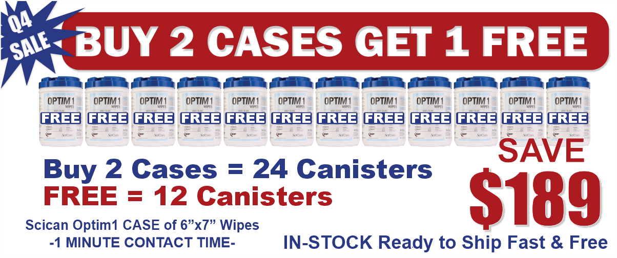 Buy 2 Cases of Optim1 6x7 Wipes and Get Third Case for Free